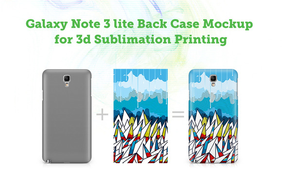 Galaxy Note3Lite Back 3D Case Mockup