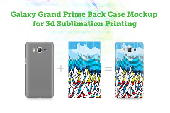 GalaxyGrandePrime Back 3dCase Mockup