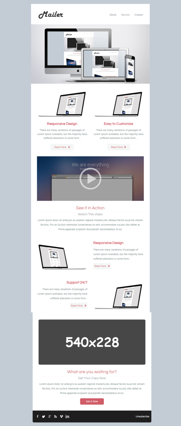 Mailer Business Email Template