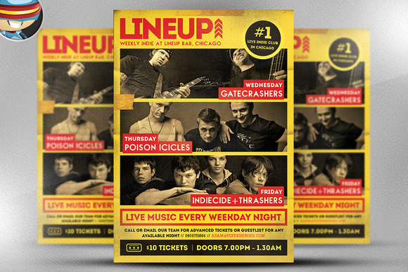 LineUp Indie Poster Template