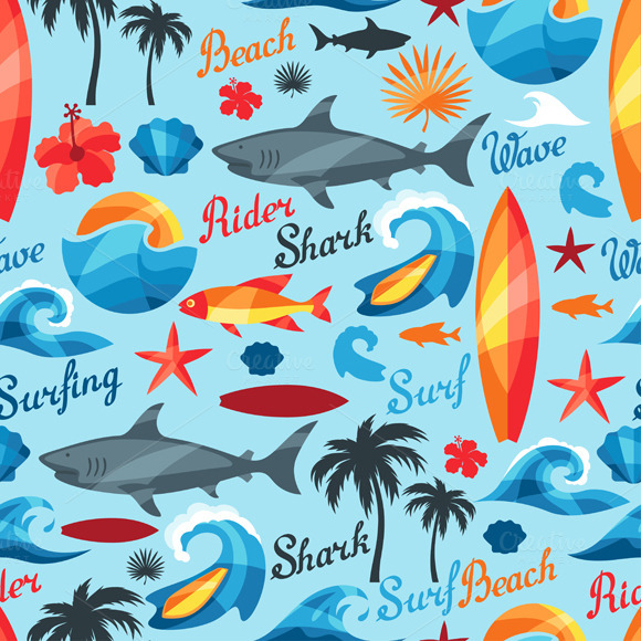 Seamless Patterns With Surfing