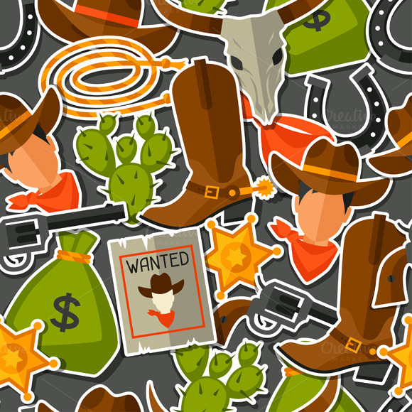Wild West Seamless Patterns