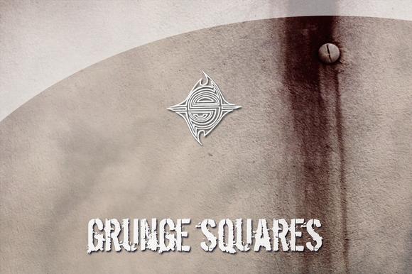 10 Textures Grunge Squares