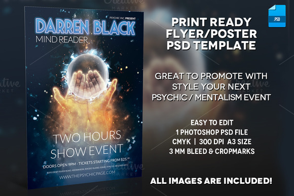 Mentalist Psychic Poster Template