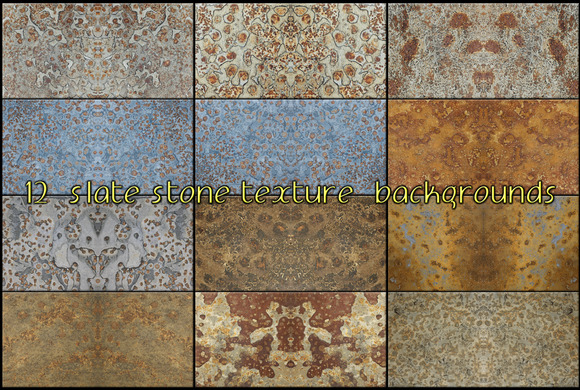 Slate Stone Texture Background No3
