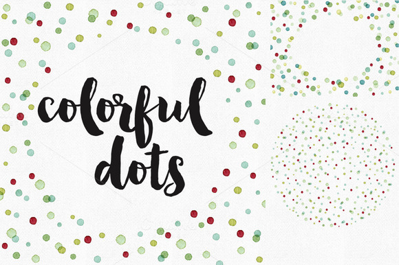 Colorful Dots Templates And Pattern