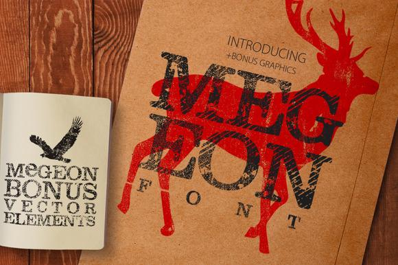 Megeon Font Vector Bonus