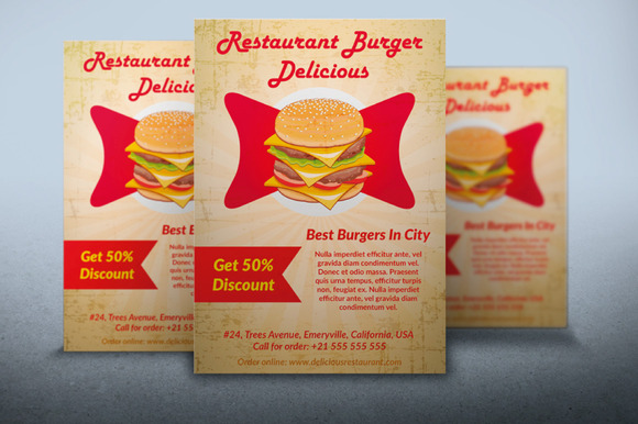 Restaurant Burger Food Flyer