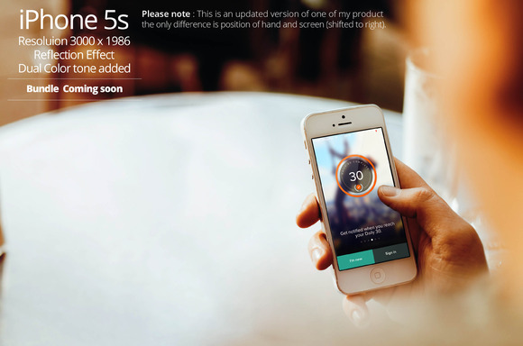 IPhone 5s Mockup 10a