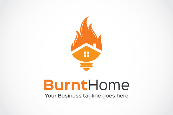 Burnt Home Logo Template