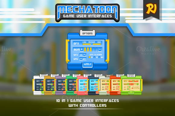 Mechatoon Game UI