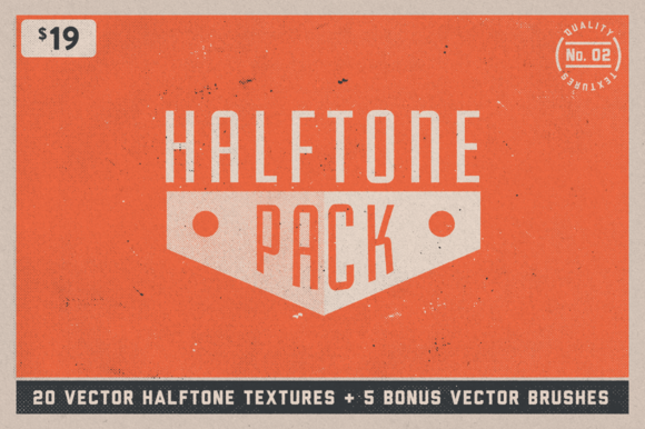 Halftone Texture Pack No 02