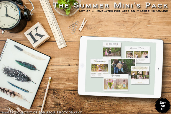 Summer Mini S Pack Of 6 Templates