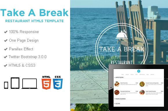 Take A Break Restaurant Food HTML5