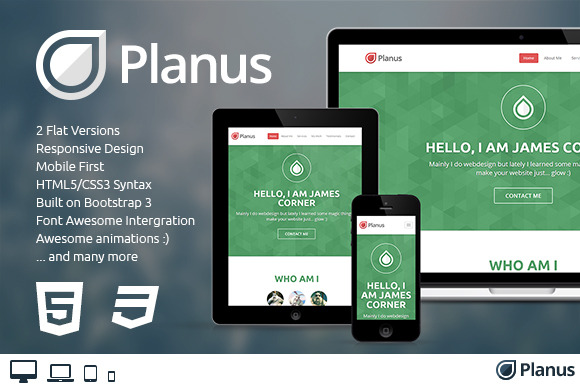 Planus One-Page Bootstrap Theme