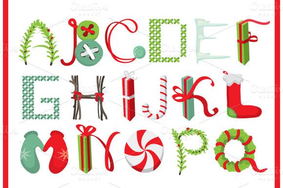 Merry Christmas Latin Alphabet