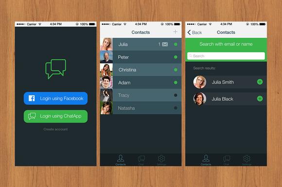 IPhone 5 IOS 7 App Template PSD