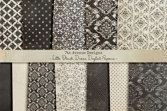 Little Black Dress Digital Papers
