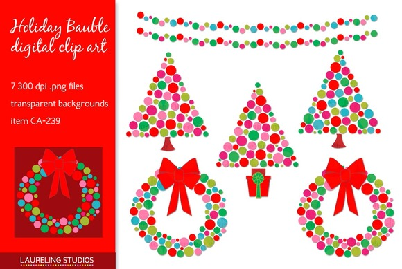 Holiday Bauble Christmas Clip Art