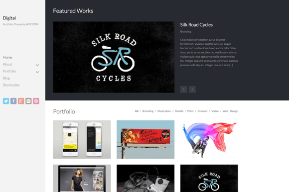 Digital Portfolio Theme