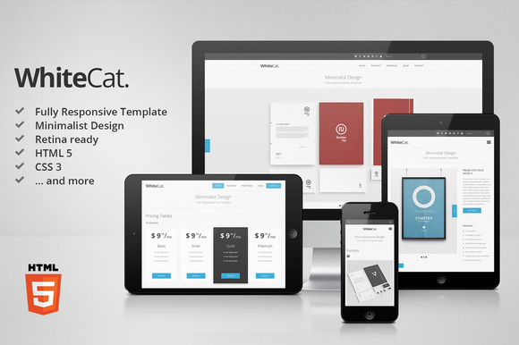 WhiteCat HTML5 Site Template