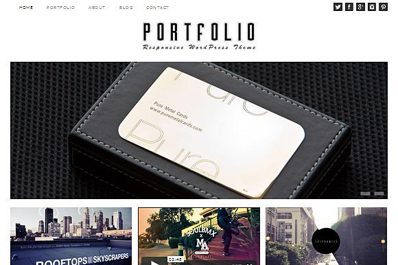 Portfolio Theme Responsive WordPress