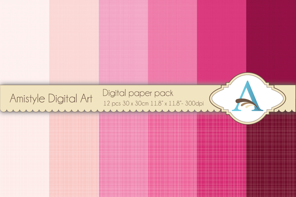 Linen Pink Digital Papers