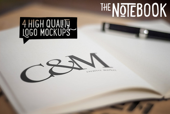 The Notebook Creative Logo Mockups