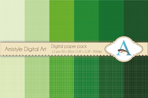 Linen Green Digital Papers