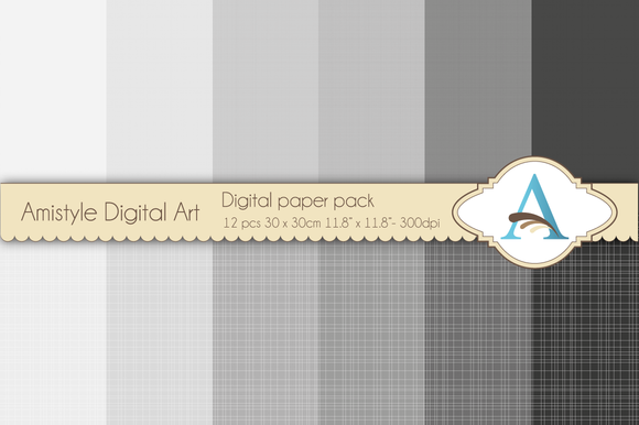 Linen Grey Digital Papers