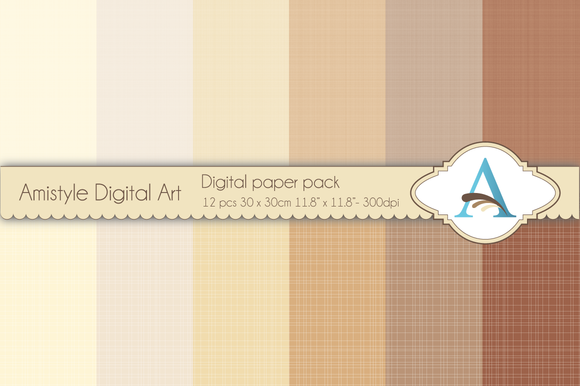 Linen Brown Digital Papers