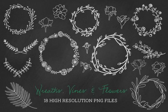 18 PNG Wreaths Vines Flowers