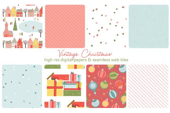 Christmas Web Tiles Digi Papers