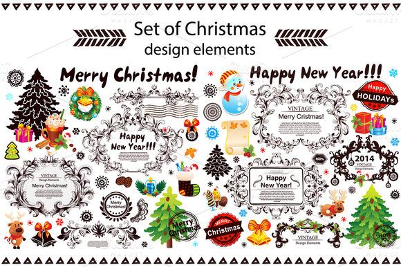 Christmas Set Of Design Elements