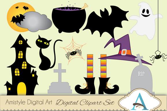 Halloween Themed Clipart Set
