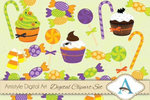 Halloween Candy Clipart Set