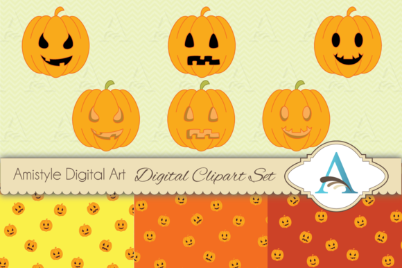 Halloween Pumpkin Clipart Set