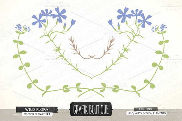 Flower Swirls Floral Vector