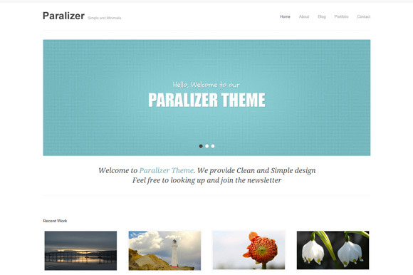 Paralizer Portfolio WordPress Theme