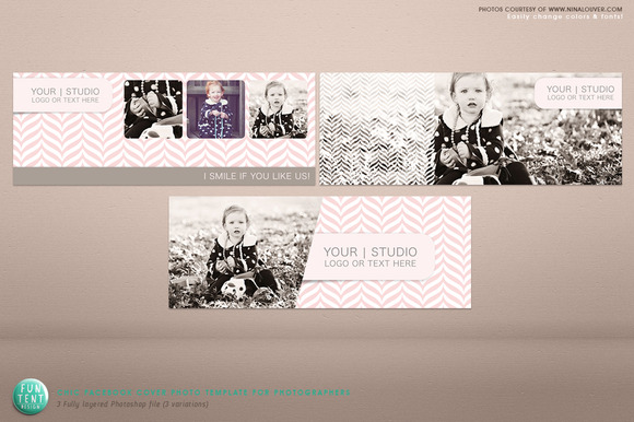 3 Chic Facebook Timeline Cover Psd