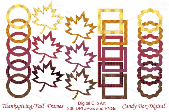 Thanksgiving Autumn Digital Frames