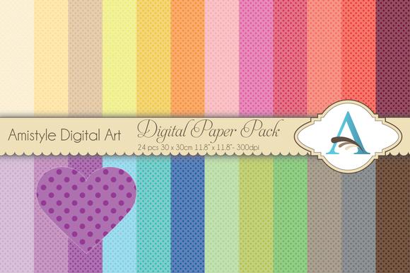 Rainbow Polka Dot Digital Pattern