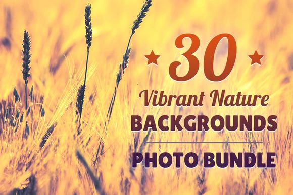 30 Vibrant Nature Backgrounds Bundle