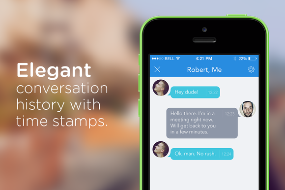 Messaging Application IOS7 Ready