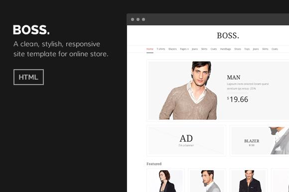 BOSS ECommerce HTML