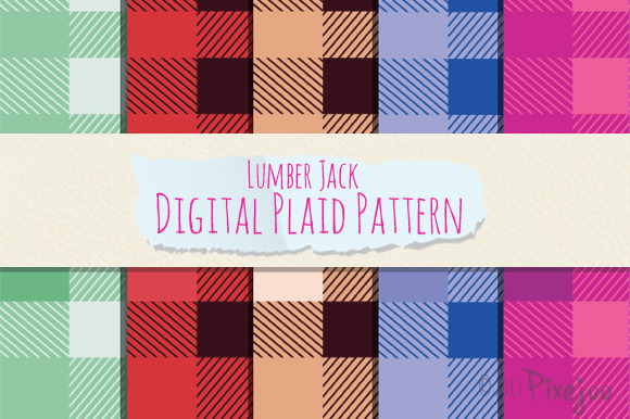 5 Seamless Plaid Pattern In EPS