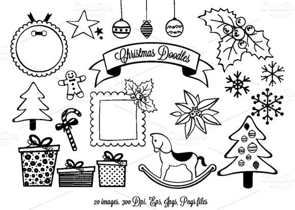 Christmas Doodles Clipart