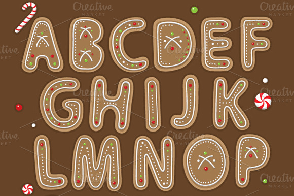 Yummy Ginger Bread Cookie Alphabet