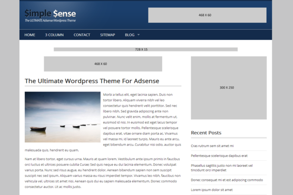 Responsive Adsense WordPress Theme