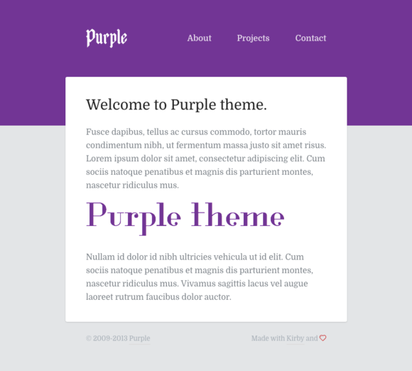 Purple ThЁЁme For Kirby CMS